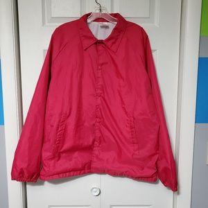 Vintage Bubblegum Pink Windbreaker Coach Jacket
